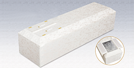 布張り棺(ホワイト)