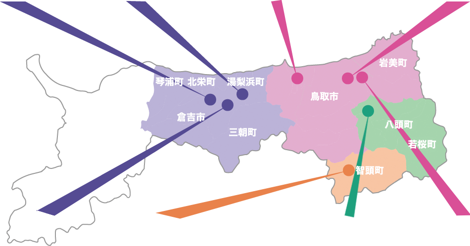 鳥取の地図